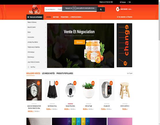 site d'échange en ligne développement wordpress
